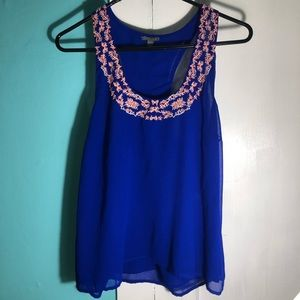 Charlotte Russe Royal Blue Tank Top